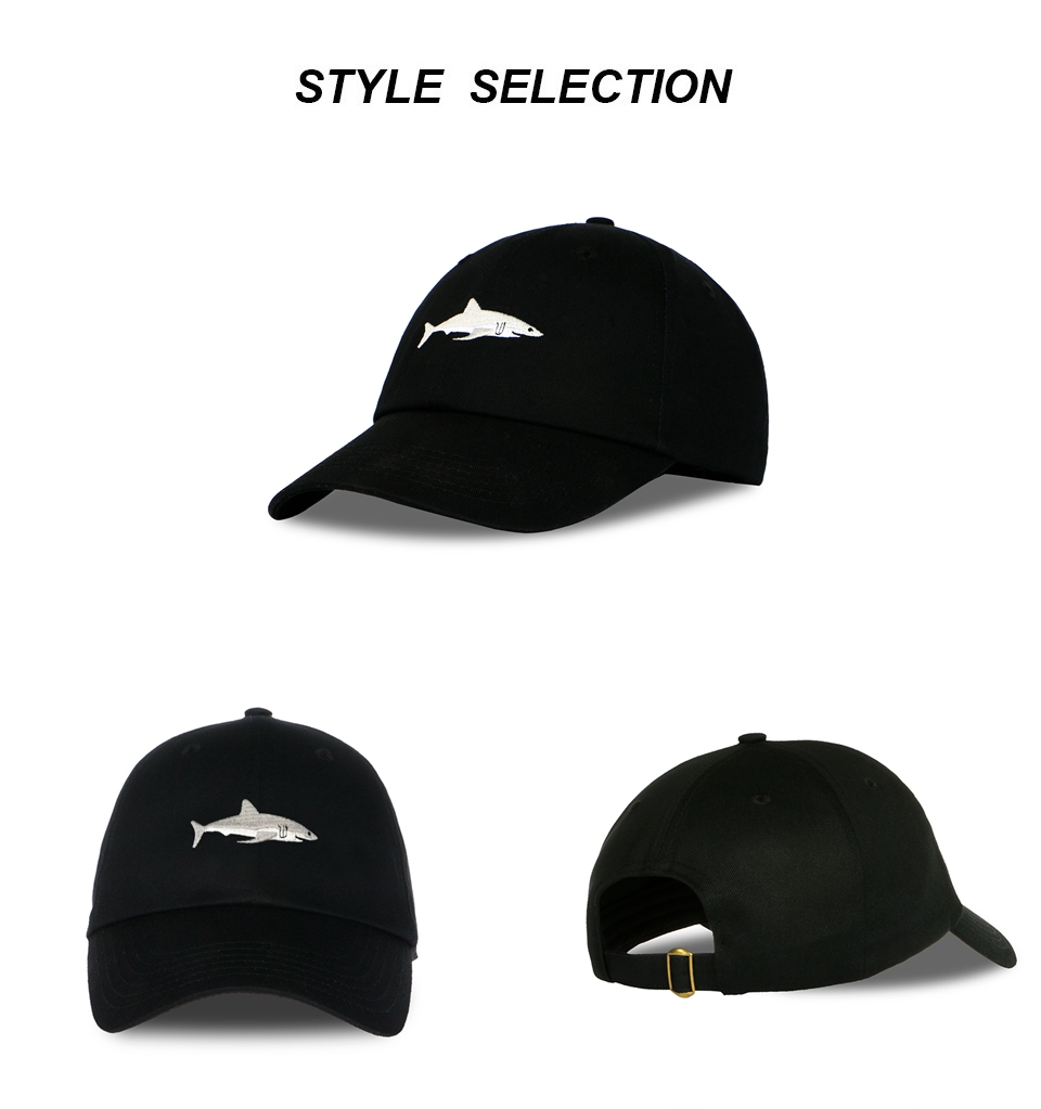 "Shark Cap"" Shark Snapback Cap for Men/Women 4"