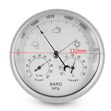 Portable 132mm Thermometer Hygrometer Barometer Wall Hanging Temperature & Humidity Weather Meter Mayitr(China)