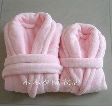 Ультра мягких кораллов флис халат семьи способа шерсть фланель халат пижамы гостиной(China)