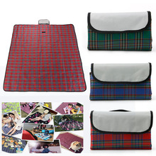 Hot sales 200cm x 150cm Waterproof Garden Camping Beach Picnic Hiking Plaid Blanket Mat Travel Rug Foldable  For Multiplayer Pic