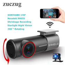 2017 New mini WiFi Car DVR FHD Night Vision universal Dash Cam Recorder Rotatable Lens Wireless Snapshot APP Dual cameras