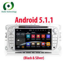 Capacitive Screen 2 din quac core Pure Android 5.1.1 Car DVD Navigation for Ford Mondeo S-Max C-max Focus car Radio dvd player