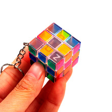 Super mini pattern magical cube one pcs per price selling intellectual toy(China)
