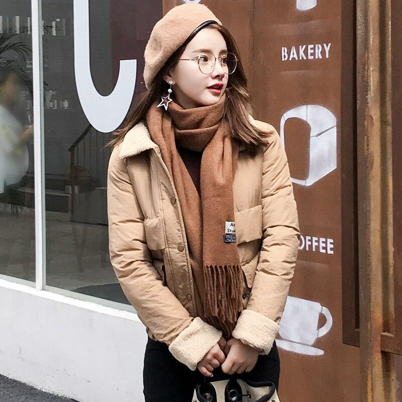 2017 New Winter Fashion Women Short Cotton Jacket Solid Slim Female Thicker Armband Parka Coat Womens JacketsÎäåæäà è àêñåññóàðû<br><br>