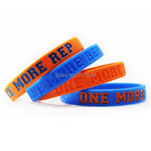 300PCS ONE MORE REP New York Orange & Blue wristband silicone bracelets free shipping by FEDEX(China)