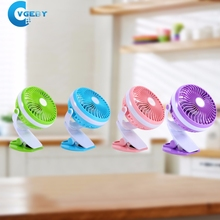 USB Mini Portable Rechargeable Fan Clip Fan With Lithium Battery 3 Grear 360 Degree Rotate New Design USB Cooling Fan