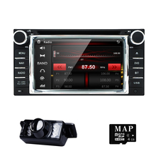 "6.2"" 2 Din Stereo Car Monitor DVD Radio GPS Navi 3G BT For Toyota Corolla Camry Bluetooth steering wheel control DVBT+rearCAMERA(China)"