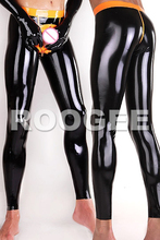Men latex skinny pants(China)
