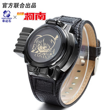 Detective Conan Anime LASER clamshell watch waterproof 3ATM Comics Cartoon Christmas Gift(China)