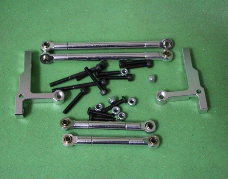 Alloy Push Rod Set For Tamiya CC01 Pajero Jeep Silver<br>