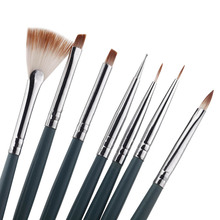 7pcs/Set DIY Nail Art Brushes Professional Nail Art Design Painting Pen Brush Tool Nail Polish UV Gel Brush Set