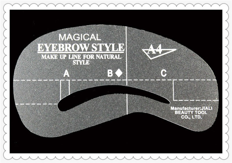 Eyeliner Stencil Human Hair Eyebrow Stencil Mold Guide Shaper