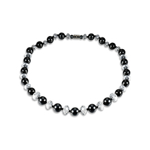 Cindiry New Fashion 7 Styles Charms Colorful Women Beads Necklaces Chunky Collar Black Hematite Long Mens Necklace Gift P0.5