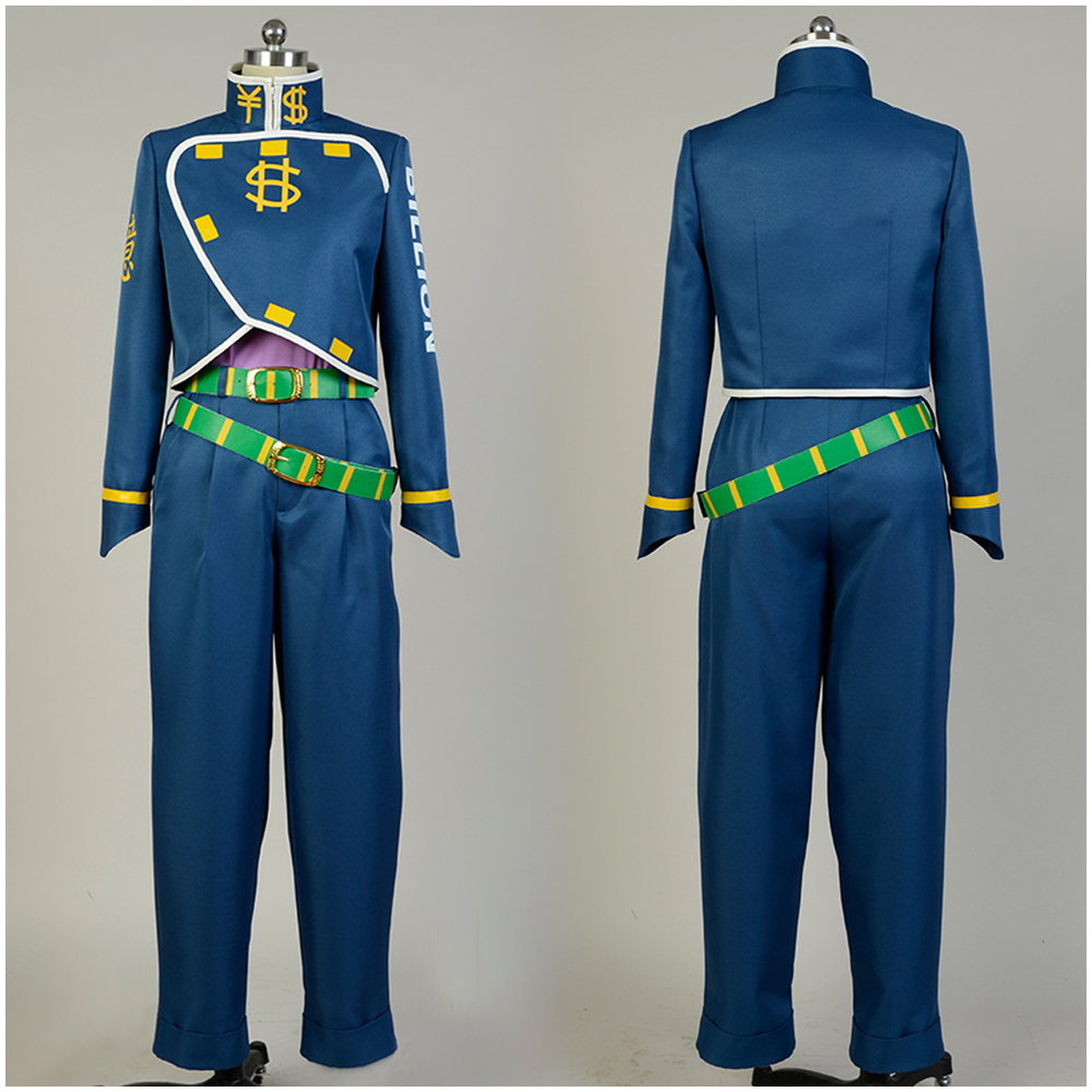JoJo's Bizarre Adventure Okuyasu Nijimura Cosplay Costume Full Sets