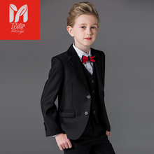 2017 children's leisure clothing sets kids baby boy suits Blazers Dress vest gentleman clothes for weddings formal clothing(China)