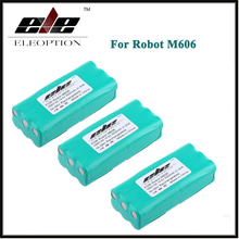 High Quality 3x Eleoption 14.4 Volt 14.4V 2000mAh 2.0Ah Ni-MH Replacement Vacuum Battery for Libero Vacuum 0606004, M606