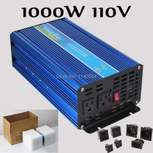 New Design 1000W Inverter 110V DC to AC 110V or 230V with 2000W Surge Power, 1000W Pure Sine Wave Solar Wind Power Inverter 110V
