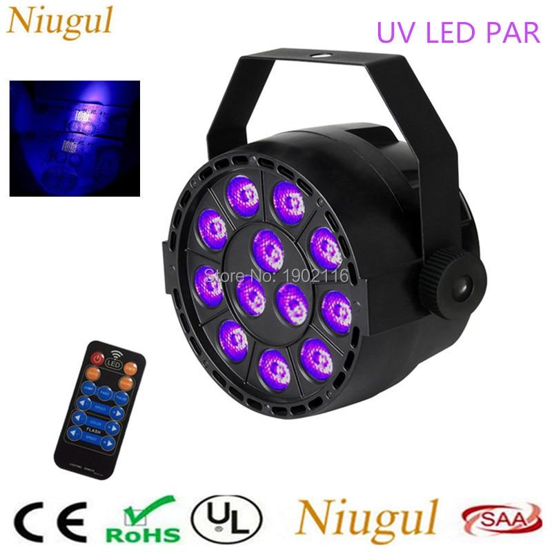 With Remote control 36W UV Led Stage light Ultraviolet Led par Light for Stage KTV Party Pub Club Disco DMX512 Purple LED lamp<br>