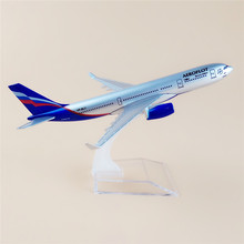 16cm Alloy Metal Air Russian Aeroflot Airlines Airplane Model Airbus 330 A330 Airways Plane Model w Stand Free Shipping(China)