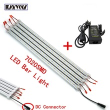 SMD7020 50cm 36led Super Bright Led Bar lights Strip +Aluminum Profile + LED PC Cover + DC connector+12V 5A Power Supply adapter