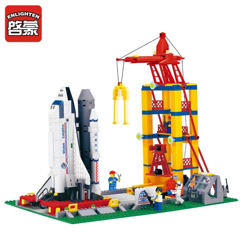 ENLIGHTEN 584pcs/set Building Blocks 3D DIY Space Shuttle Educational Toys Children Gift mini Compatible With Legeod<br><br>Aliexpress