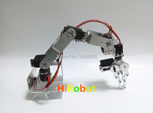 6 dof Robot Arm/hand,with High torque servo, Metal/plastic mechanical Claw/Gripper,For Robot DIY,teaching demo,programming
