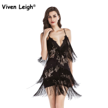 Viven Leigh Woman vestido de festa Flapper Fringe 1920s Gold Vintage Great Gatsby Sequin Tassel Party Dress Sexy Summer Dress(China)