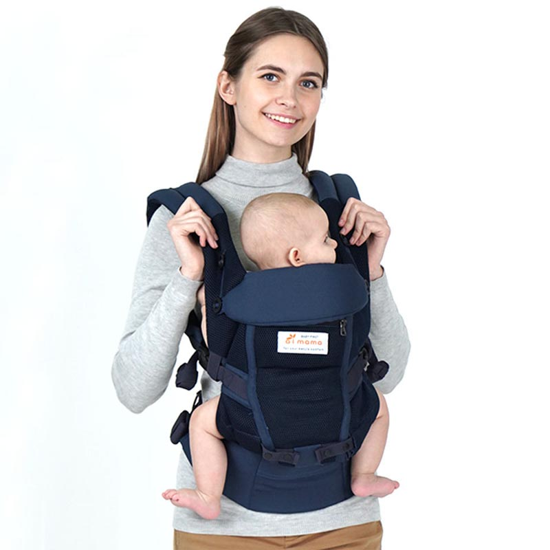 Ergonomic Adjustable Baby Carriers Backpacks 4-36M Portable Baby Sling Wrap Cotton Infant Newborn Baby Carrying Belt for Mom Dad
