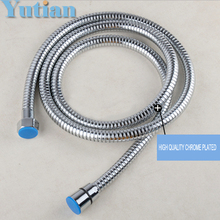 High quality 1.5M Stainless Steel Flexible Shower Hose Double Lock with EPDM Inner Tubes Free Shipping,Wholesale YT-5111(China)