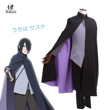 ROLECOS Japanese Anime  Boruto Naruto The Movie Uchiha Sasuke Cosplay Costume Customized Uniform Suit