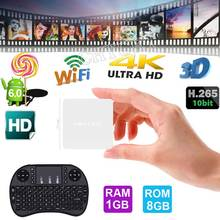 MINI ONE Android 6.0 Smart TV Box RK3229 Quad Core Cortex-A7 1G 8G Set top TV Box WIFI HDMI  4K Media Player Optional  Keyboard