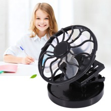 Mini Clip-on Solar Sun Powered Fan Panel Black Cooling Cell Fan for Travel Camping Cooling Outdoor Fishing Portable Solar Fan