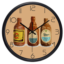 Retro Bottle Kitchen Wall Clock Decorate Home Clock(China)