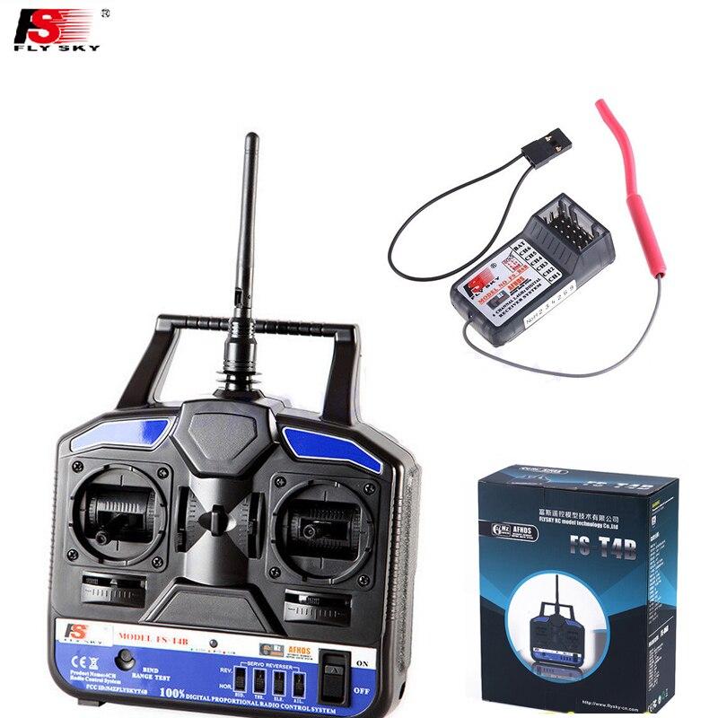 1pcs Original RC Helicopter Airplane Remote control Flysky FS 2.4G 4CH FST4B FS-T4B Radio RC Transmitter &amp; Receiver<br>