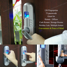 Fashion Smart Single Latch Locks Biometric Finger Print Password Lock(China)