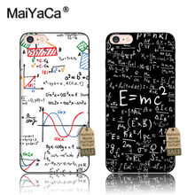 MaiYaCa silicone case For iPhone7 5s 6s 7 plus E=mc2 Mathematical equation Physical formula Phone Case Accessories Cover