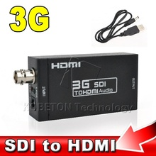 SD-SDI HD-SDI 3G SDI to HDMI Adapter Audio Video Converter box 2.970/1.485Gbit/s 270Mbits/s with 5V 1A power supply or USB