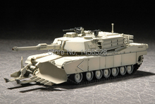 TRUMPETER  07277 1/72  M1A1 with Mine Clearing Blade System Assembly Model kits scale model  3D puzzle vehicle model