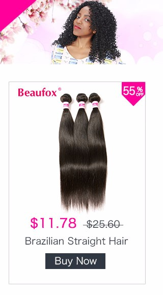 Beaufox Deep Wave Brazilian Hair 100% Human Hair Bundles Natural Color Can Be Dyed And Bleached Non-remy Free Shipping