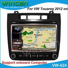 "RoadRover Brand 8"" Car DVD GPS Player for VW Touareg 2012 support the original Air-conditioner display original style interface"