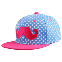 cheap promotion boy girl child kids beauty mustache character style summer outdoor snapback hat children fashion baseball caps