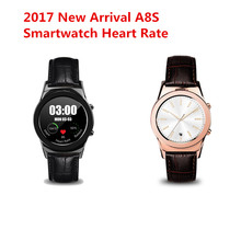 2017 New A8S Round Smartwatch Support SIM Card Bluetooth WAP GPRS SMS MP4 USB For I Phone iOS Android Smart Watchpk GW01 PW308
