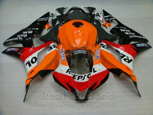 Hot sale fairings for Honda injection mold fairing kit CBR600RR 2007 2008 orange black fairings set 07 08 CBR 600RR TP12(China)