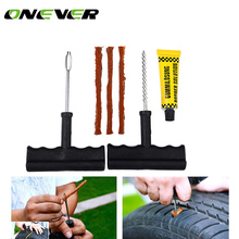 6Pcs/Set Professional Auto Car Tire Repair Kit Rubber Cement Car Bike Auto Tubeless Tire Tyre Puncture Plug Repair Tool Kit Tool(China)