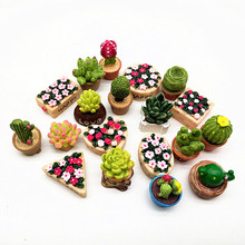 19pc Flower Set Miniature Fairy Garden Home Decoration Mini Craft Dollhouse Micro Decor DIY Gift Moving Forest Drop Shipping(China)