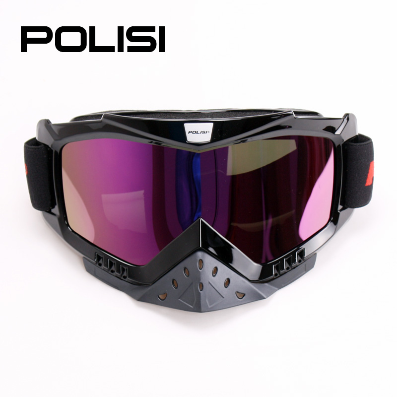 New POLISI Dirt Bike Ski Snowboard Motorcycle Goggles Motocross Off-Road Skiing Airsoft Paintball Glasses Free Shipping<br><br>Aliexpress