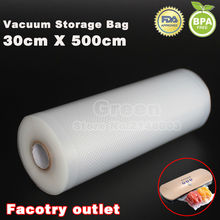 (5 Rolls/ Lot ) 30cm x 500cm  KitchenBossVacuum food bag for kitchen vacuum storage bags packing film keep fresh up to 6x longer