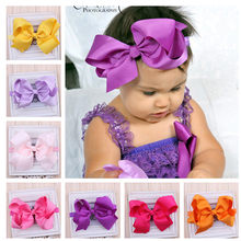 1PC 2017 New Children Hair Bows Baby Flower Headband Multi Style Hair bands Elastic Headwear Girls Hair Accessories w016(China)