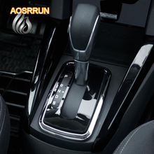 AOSRRUN stroke gear panel affixed automatic gear ring gear affixed stickers car style for Ford ecosport 2013 2014