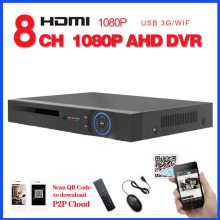 Full HD AHD 1080P CCTV surveillance 8ch DVR NVR ONVIF 8 channel AHDH 1080P HDMI Standalone 3G WIFI security DVR video recorder(China)